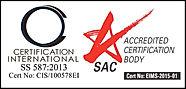 Certification International SS 587:2013