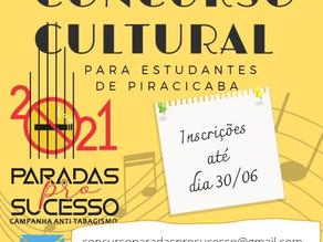Concurso Cultural Paradas pro Sucesso: estudantes de Piracicaba podem se inscrever até dia 30