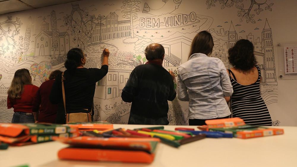 Exposição interativa tem desenho de Maria Luziano (Crédito: Sesc Piracicaba)