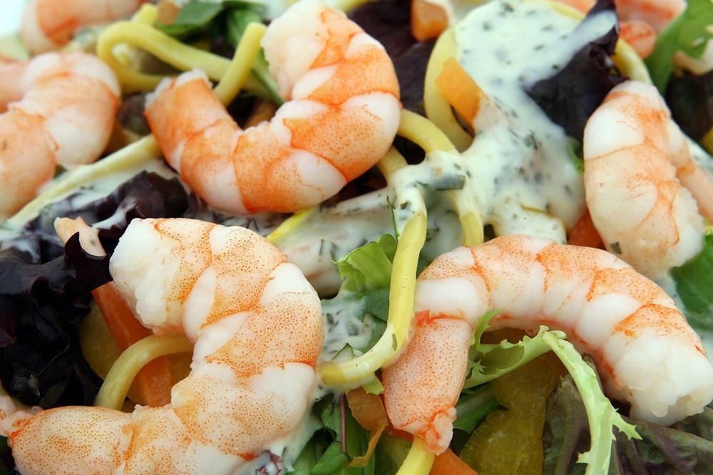 Sublime de legumes e camarão - Imagem: Pixabay