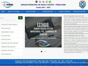 Semae reestrutura site e facilita acesso dos usuários a serviços na homepage