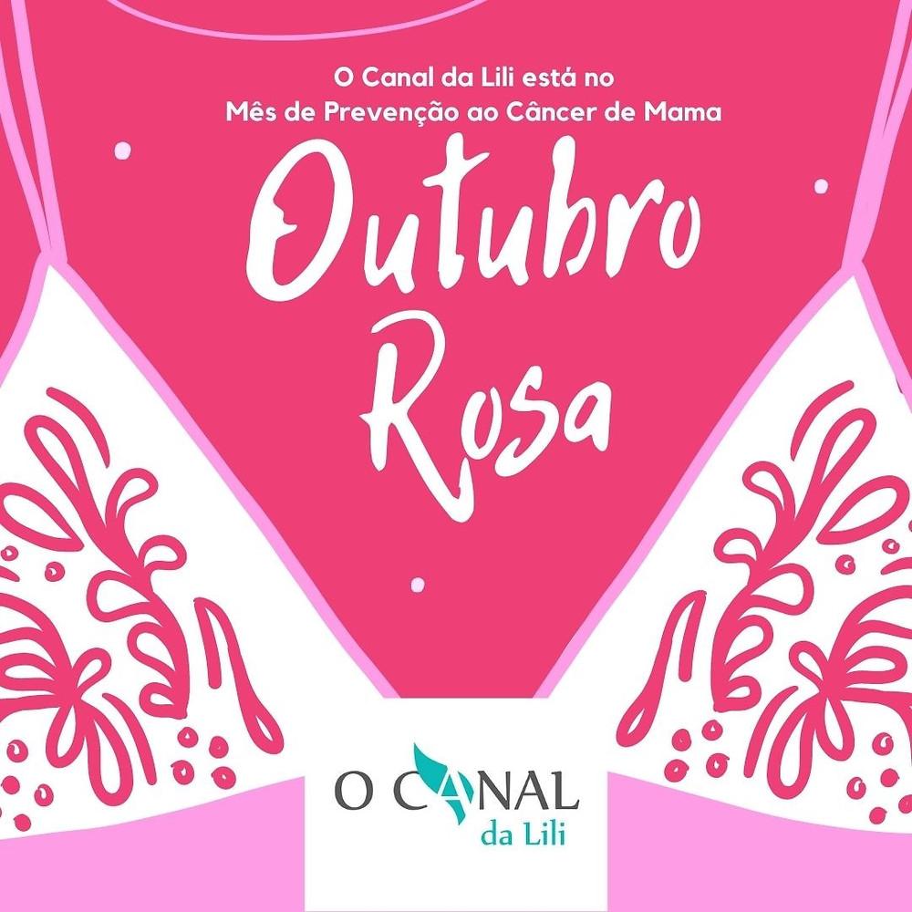 Logomarca do blog O Canal da Lili na Campanha Outubro Rosa