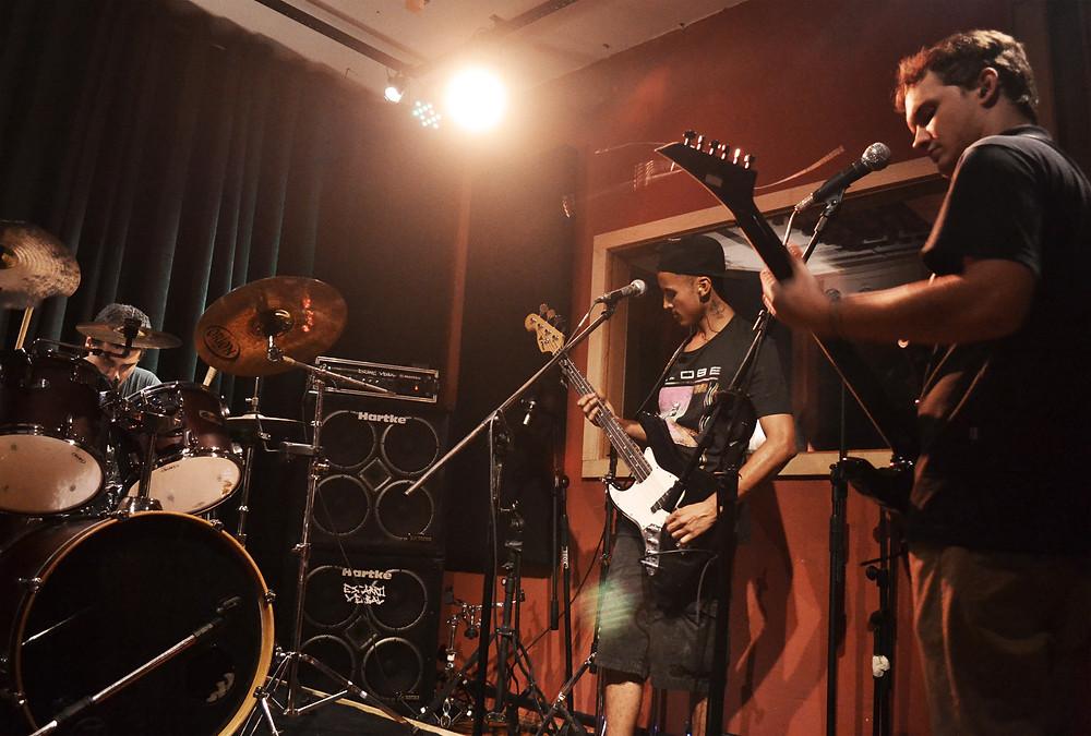 Processo de gravação acontece no Casarão Music Studio - Crédito: Rafael Bitencourt