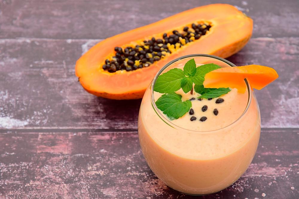 Suco de mamão com laranja e gengibre - Crédito: Divulgação