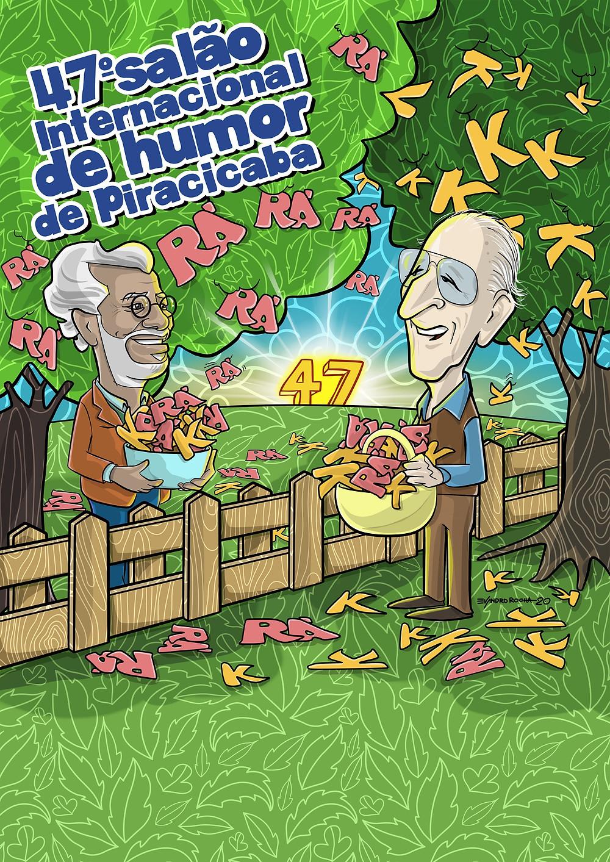 Proposta de Cartaz Salão de Humor, de Evandro Rocha - Crédito: Divulgação