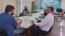 Vereador André Bandeira discute sobre Falta d'água com presidente do SEMAE