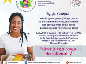 Semana Municipal de Aleitamento Materno de Piracicaba abre nesta segunda-feira (2)