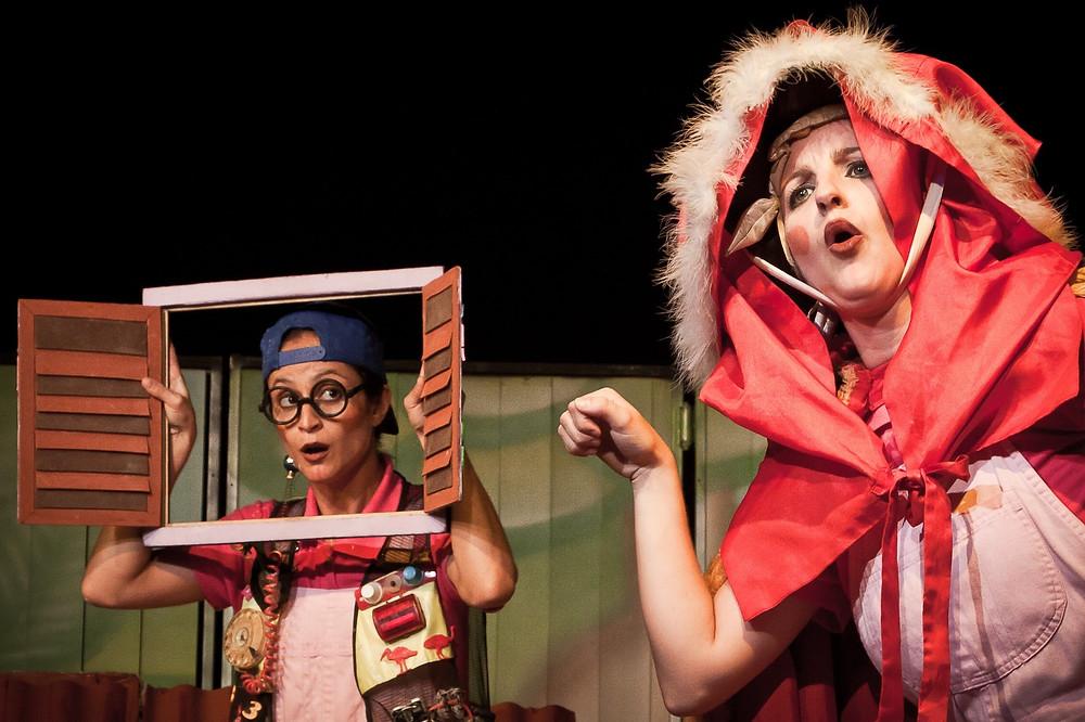 Os Três Porquinhos tem encenação adaptada, sábado (5), às - Crédito: Deny Flores