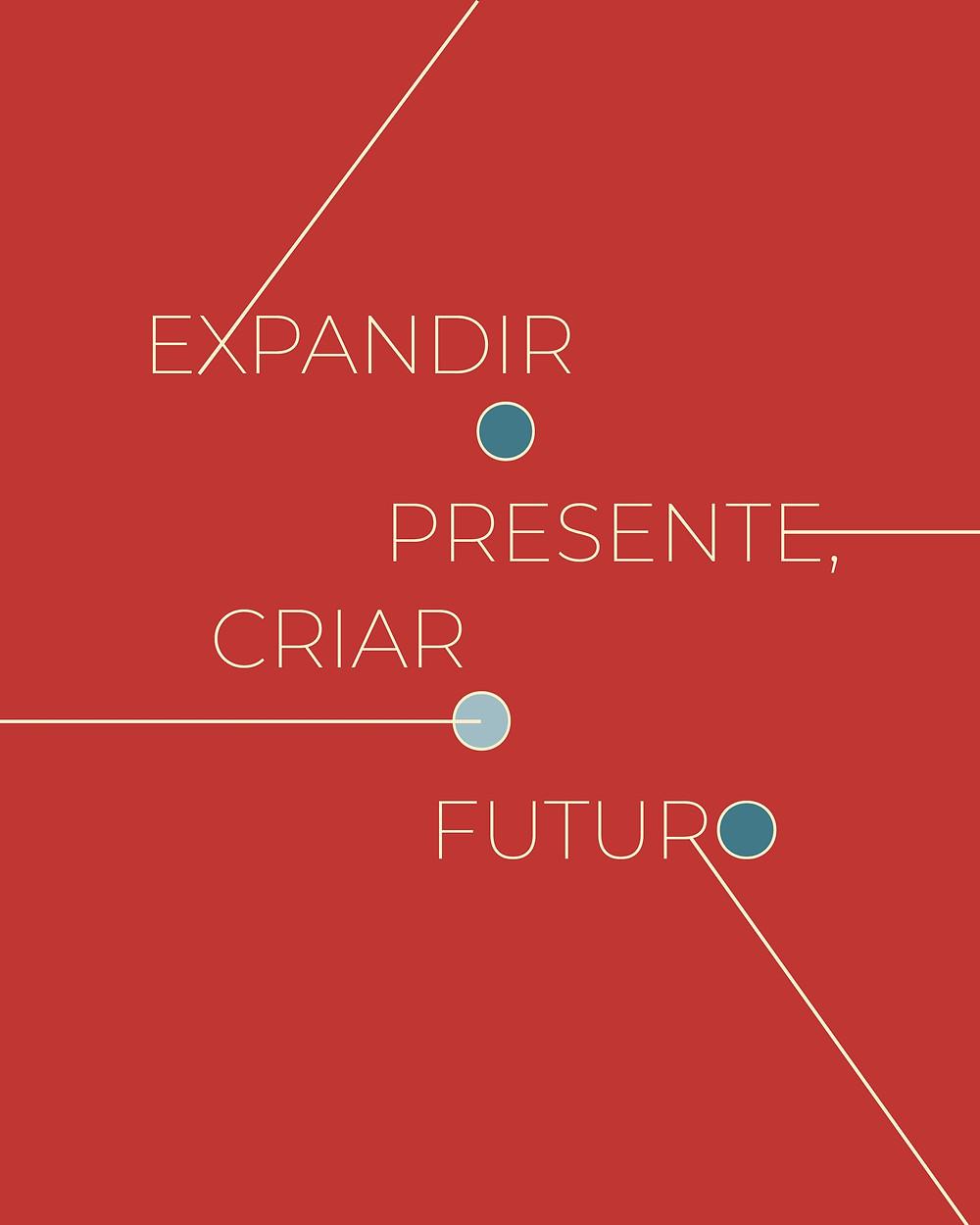 """Capa do e-book """"Expandir o presente, criar o futuro"""" – Imagem: Divulgação"""