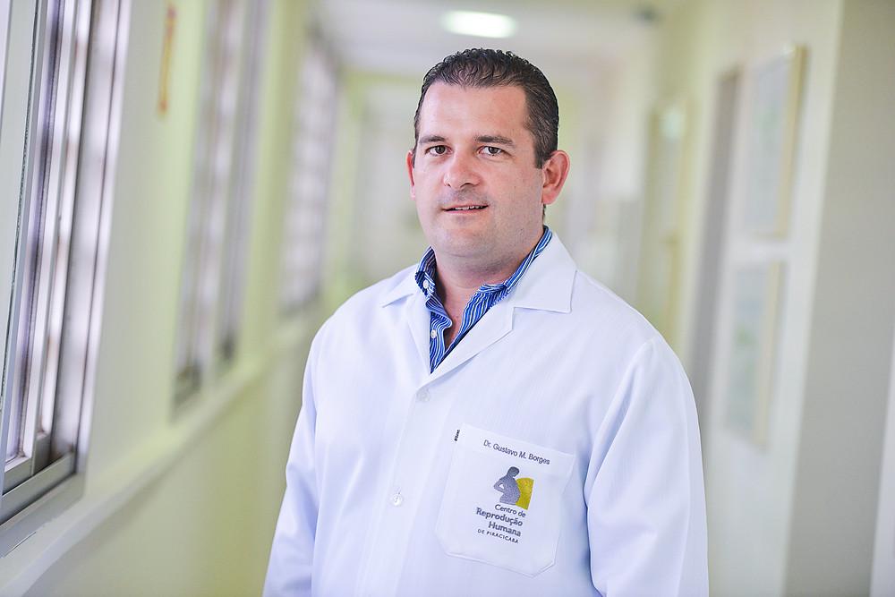 Urologista Gustavo Borges é da equipe do Centro de Reprodução - Crédito: Bolly Vieira