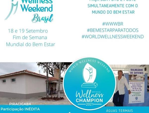 Dia Mundial do Bem-Estar terá atividades no Balneário de Artemis, em Piracicaba