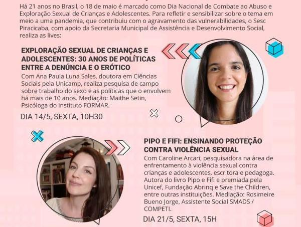Smads e Sesc: ações no mês de Combate ao Abuso e Exploração Sexual contra Criança e Adolescente