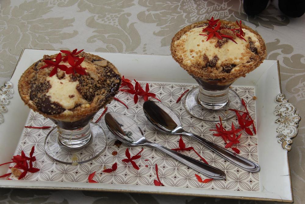 Kerst Ijs (sorvete de Natal) do Casa Bela Restaurante - Imagem: José Francisco Pacola