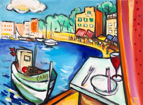 Cassis, France (Theo Strutz, oil paintin