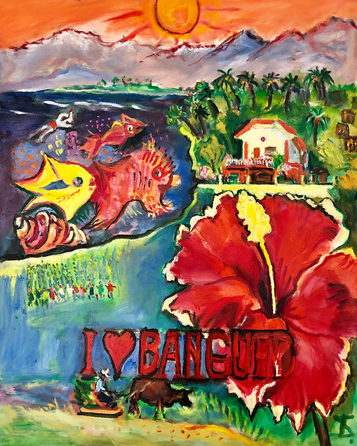 I Love Bangued (Theo Strutz, oil painting)