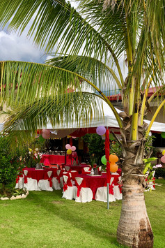 Pagoda Tents with Tables