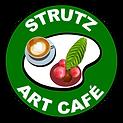 Logo Design Strutz Art Cafe dark green.p