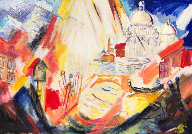 Venice, Abstract (Theo Strutz, oil paint