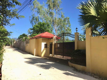 Access Road to Strutz Art Garden Resort Now Fully Concreted