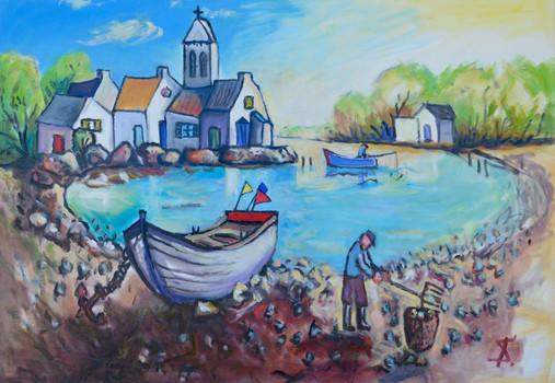 Penerf Bretagne (Theo Strutz, oil painti