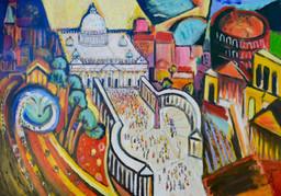 Rom (Theo Strutz, oil painting) in Strut