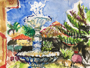 Barock Fountain, Strutz Art Garden Resor