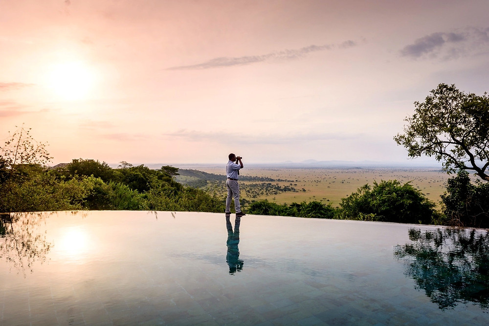Singita Sasakwa by the pool