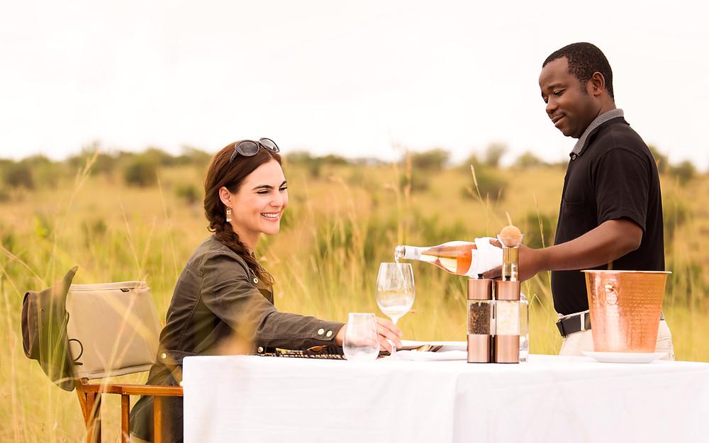 Luxury Dinner Set up at Nimali Mara - Serengeti