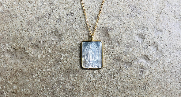 Our Lady of Guadalupe Necklace Square