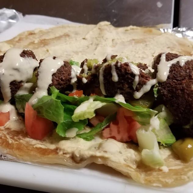 """Falafel """"Bajiya"""" Chapati"""