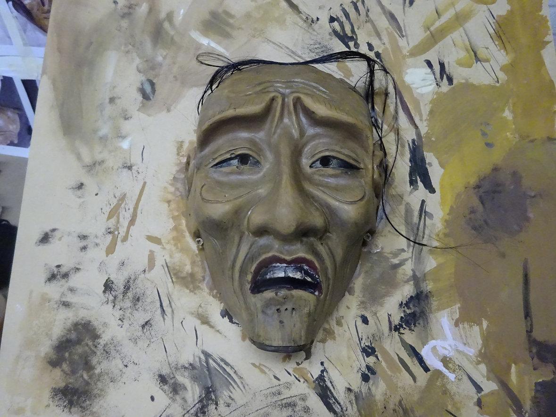 Noh mask replica