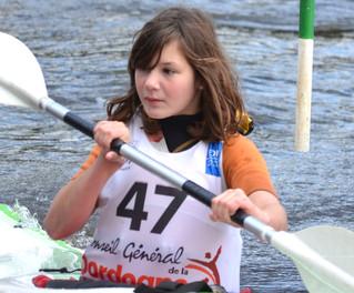 Les jeunes kayakistes réunis à Trémolat