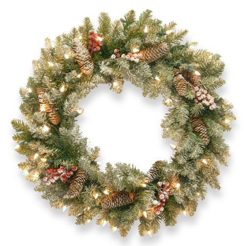 Snowy Dunhill Wreath