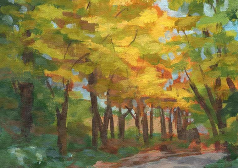 Golden Alley (Acrylic)