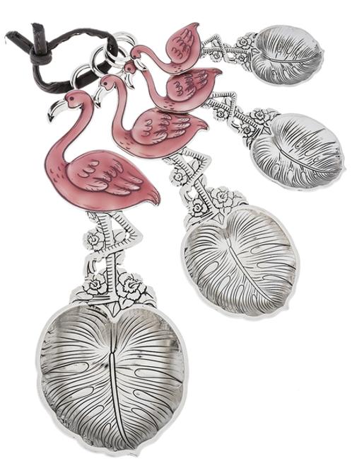 Measuring Spoons w/ Color - Flamingo (4 pc. set)
