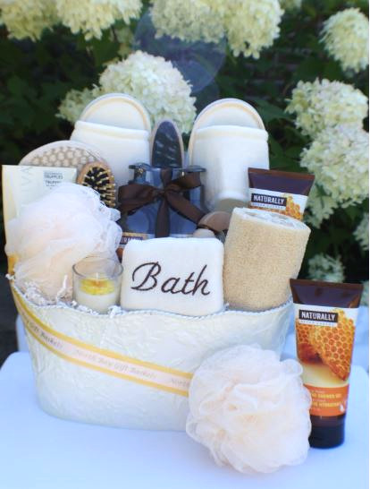 Naturally upper canada warm honey nectar north bay gift baskets get ready for the ultimate pamper experience with this lovely spa basket upper canada products are paraben free mineral oil free synthetic dye free negle Choice Image