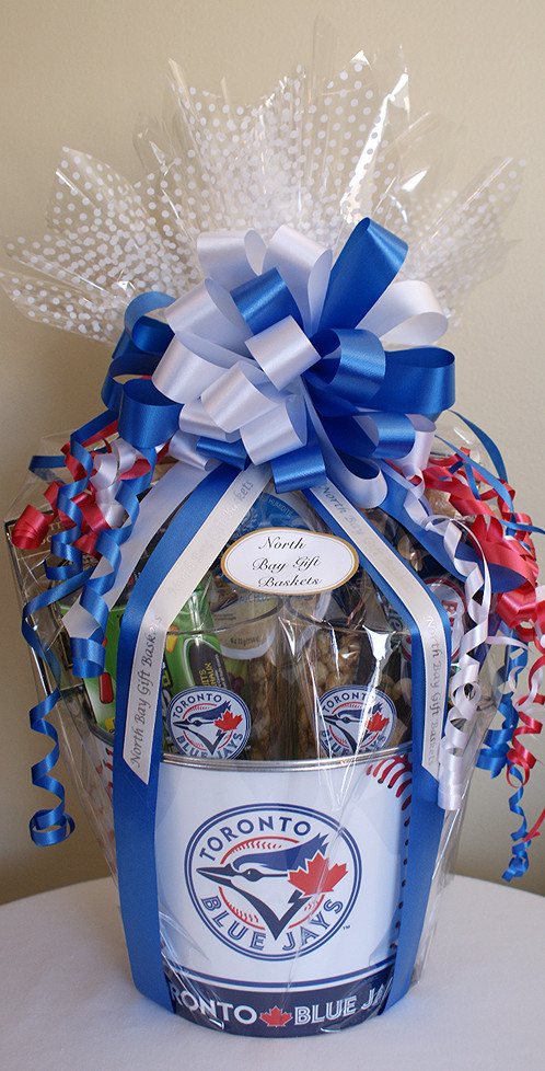Gift Baskets Toronto Fruit : Toronto blue jays fan bucket north bay gift baskets