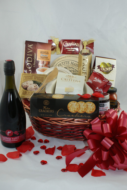 Brie baker valentine gift basket north bay gift baskets negle Images