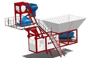Conmach compact concrete batching plants have the big advantage against mobile concrete batching plants as they are fitted into containers instead of being transported in roro ships. Concrete capacity of our compact concrete batching plants a are from 30 m³/h to 75 m³/h.