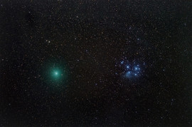 Comet 46P/Wirtanen meets the Pleiades
