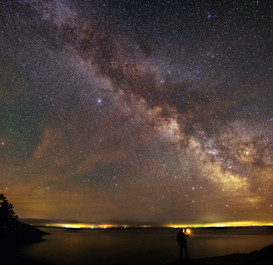 Milky Way over St-Lawrence River