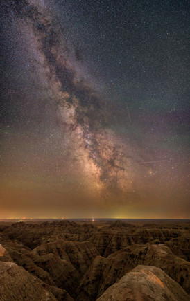 The Milky Way from the Badlands, South Dakota