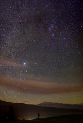 Orion over Jay Peak
