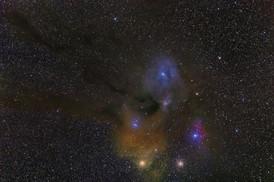 Nebulosities around Rho Ophiuchi