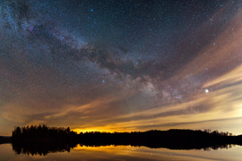 Milky Way Rising Over L'Escalier Lak