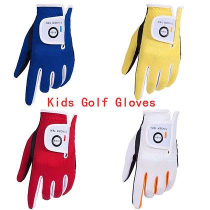 Left Hand Right Golf Gloves Kids Rain Grip Hot Wet Breathable Soft