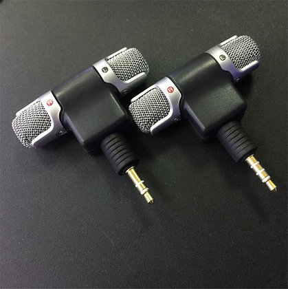 Mini 3.5mm Jack Microphone Stereo Mic for Recording Mobile Phone Studio
