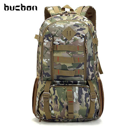 Bucbon Camo Tactical Backpack Military Army 50L Waterproof Hiking