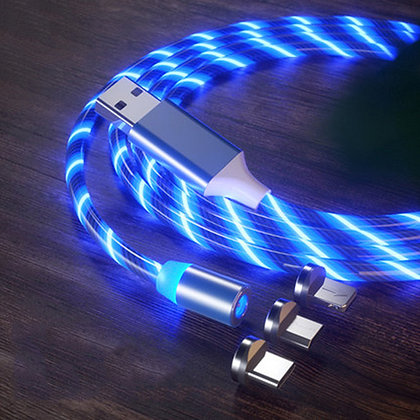 LED Lighting Charging Magnetic USB Type C Cable Magnetic Cable USB Micro Charger