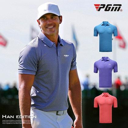 PGM Golf Apparel Men T-shirt Short Sleeve Golf Tops